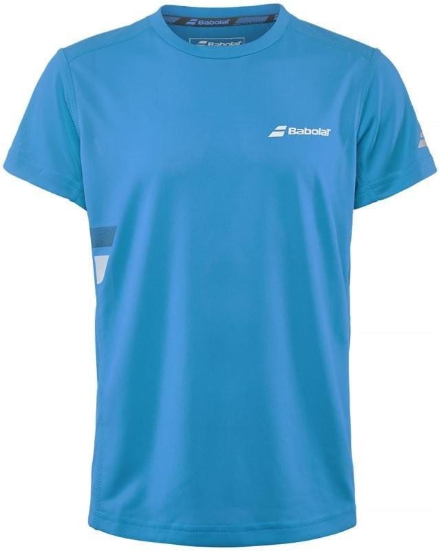 Теннисная футболка детская Babolat Core Flag Club Tee Boy drive blue