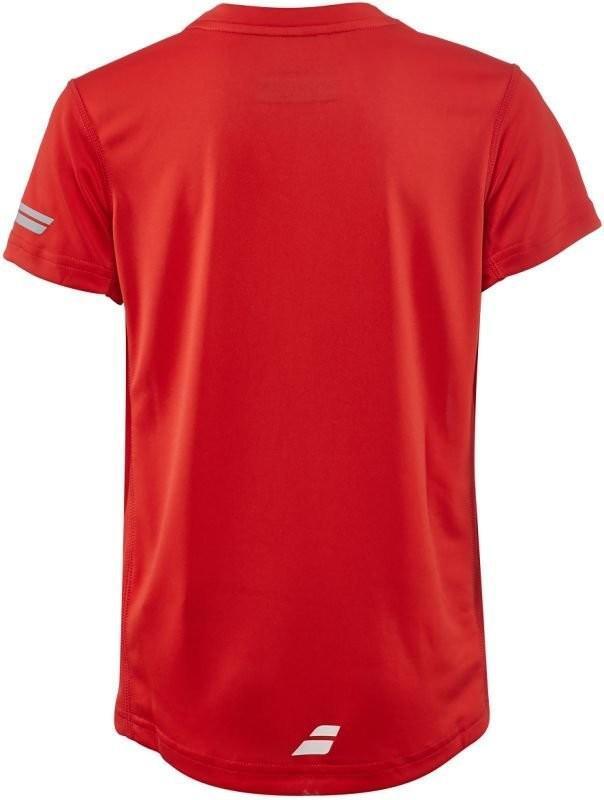 Теннисная футболка детская Babolat Core Flag Club Tee Boy strike red