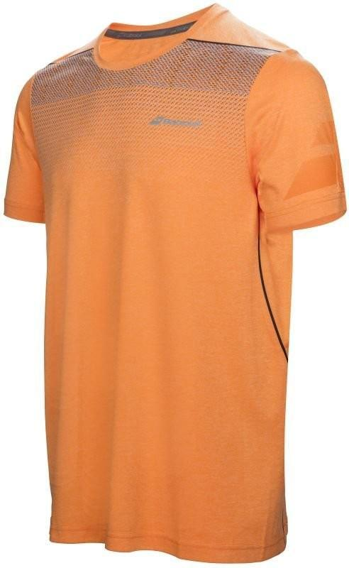 Теннисная футболка детская Babolat Performance Crew Neck Tee Boy celosia orange