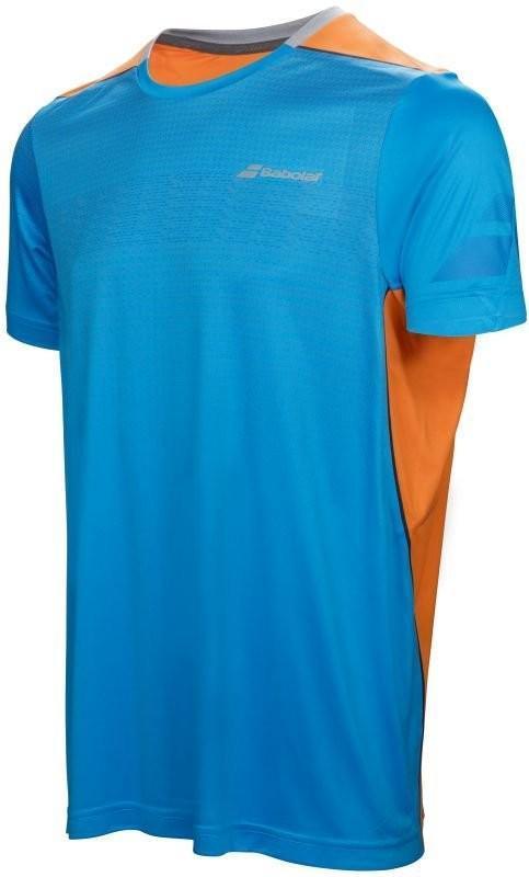 Теннисная футболка детская Babolat Performance Crew Neck Tee Boy drive blue