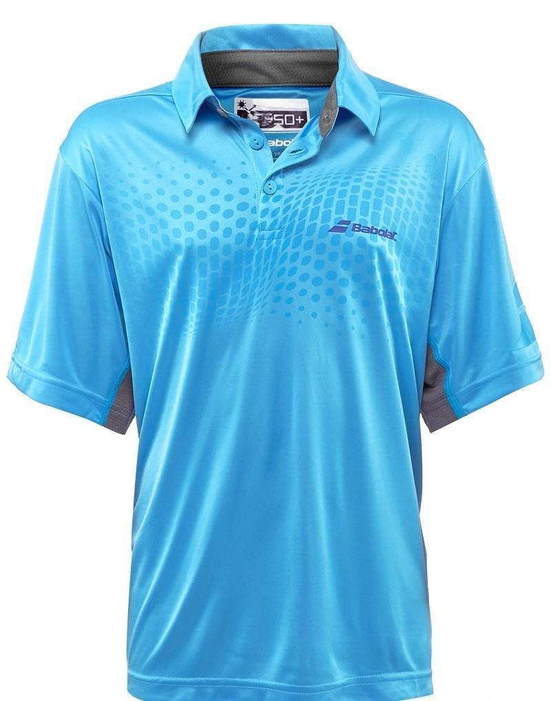 Теннисная футболка детская Babolat Polo Performance Boy aquarius поло