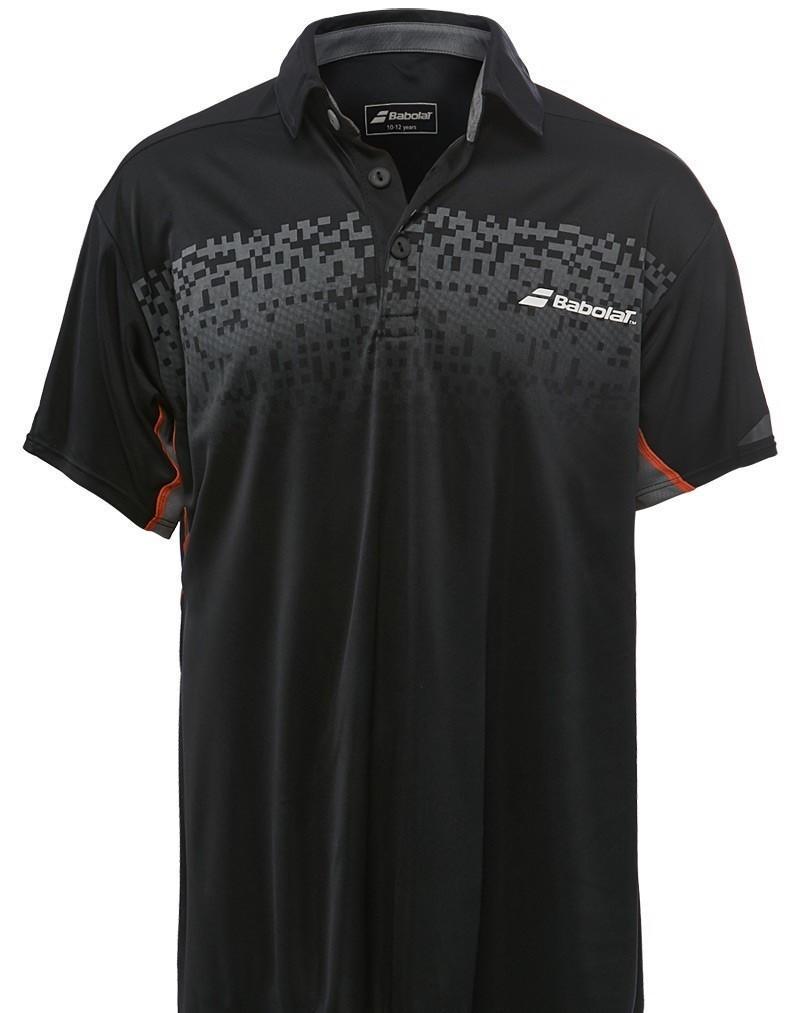 Теннисная футболка детская Babolat Polo Performance Boy black поло