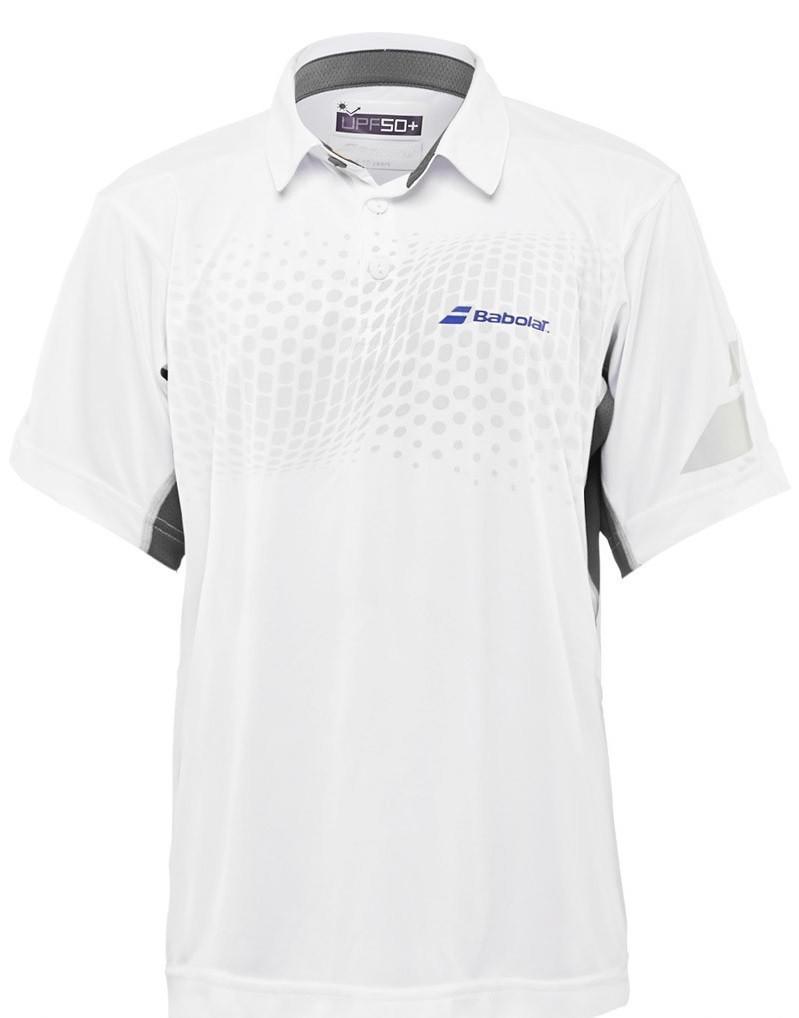 Теннисная футболка детская Babolat Polo Performance Boy white поло