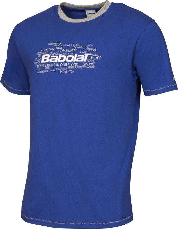 Теннисная футболка детская Babolat T-Shirt Core Boy dark blue