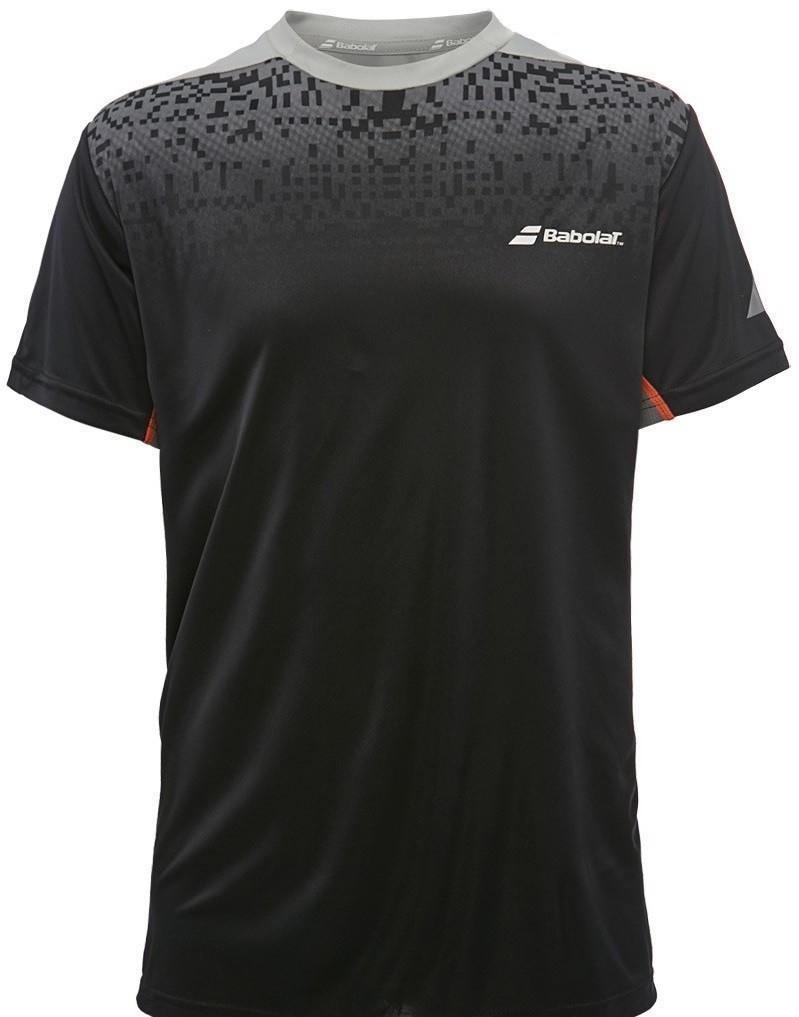 Теннисная футболка детская Babolat T-Shirt Crew Neck Performance Boy black