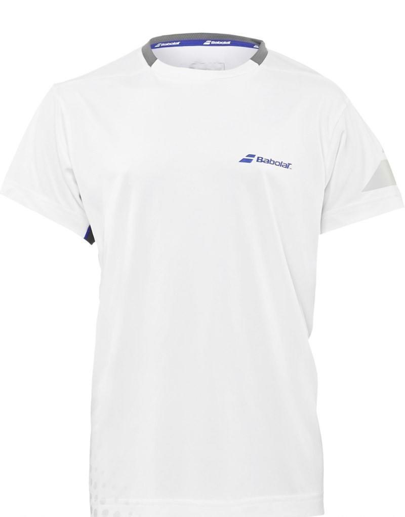 Теннисная футболка детская Babolat T-Shirt Crew Neck Performance Boy white