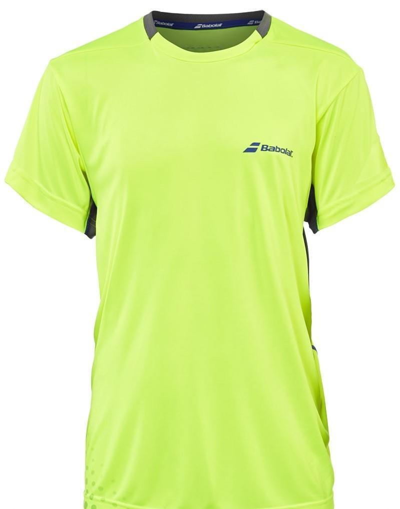 Теннисная футболка детская Babolat T-Shirt Crew Neck Performance Boy yellow