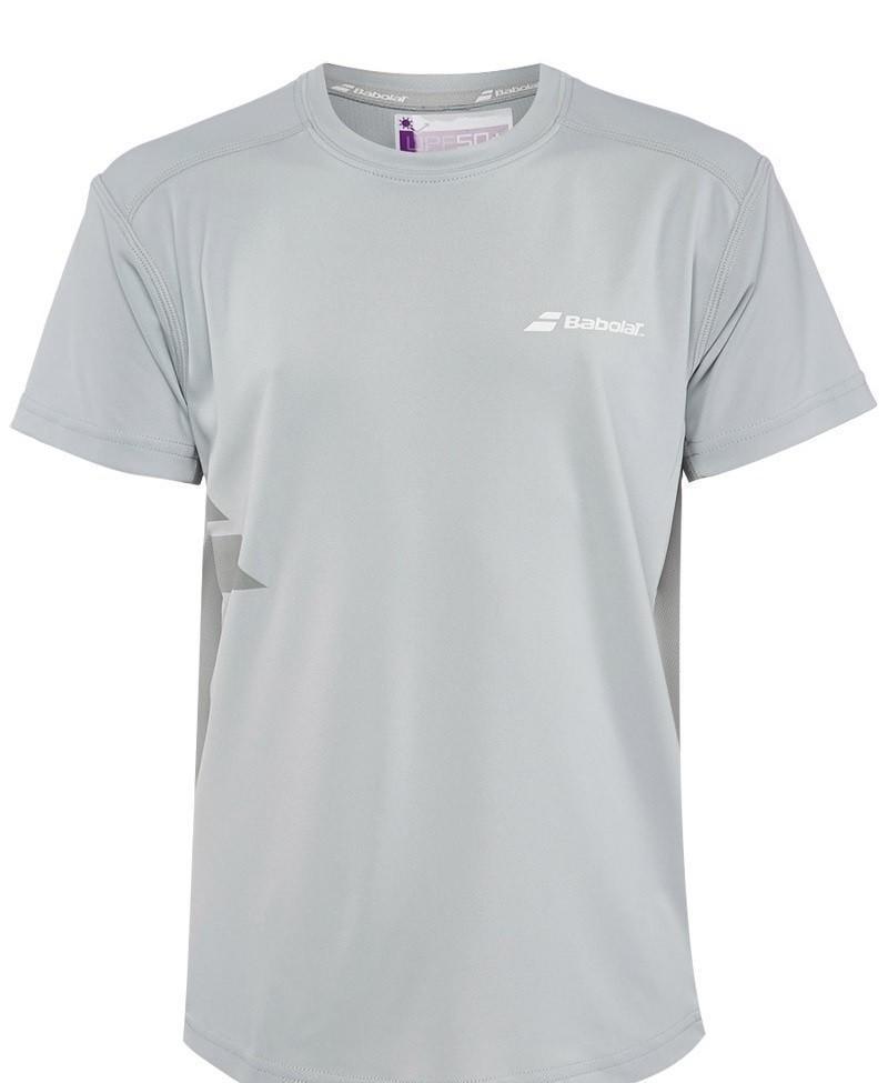 Теннисная футболка детская Babolat T-Shirt Flag Core Boy grey