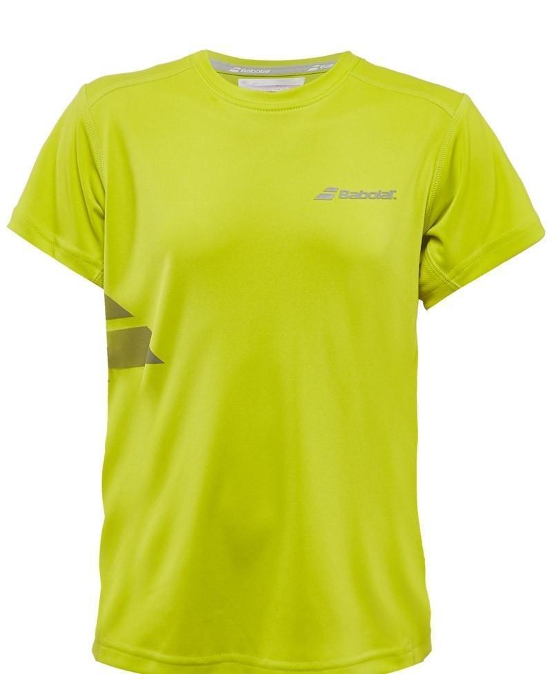 Теннисная футболка детская Babolat T-Shirt Flag Core Boy tonic lime