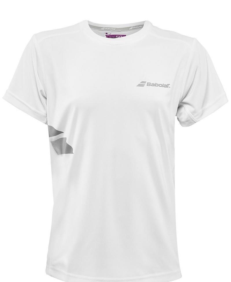 Теннисная футболка детская Babolat T-Shirt Flag Core Boy white