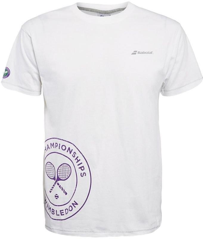 Теннисная футболка детская Babolat Wimbledon Core Training Tee Boy white