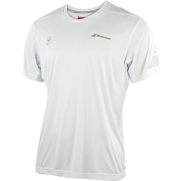 Теннисная футболка детская Babolat Wimbledon Performance Tee Crew Neck Boy white
