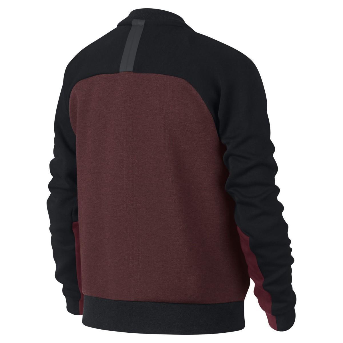 Куртка детская Nike Sportswear Tech Fleece Bomber Dark Team Red/Heather/Team Red/Anthracite