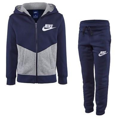 Спортивный костюм детский Nike Boy's NSW Cotton Warm-Up Suit Obsidian Navy/Dark Grey Heather & White