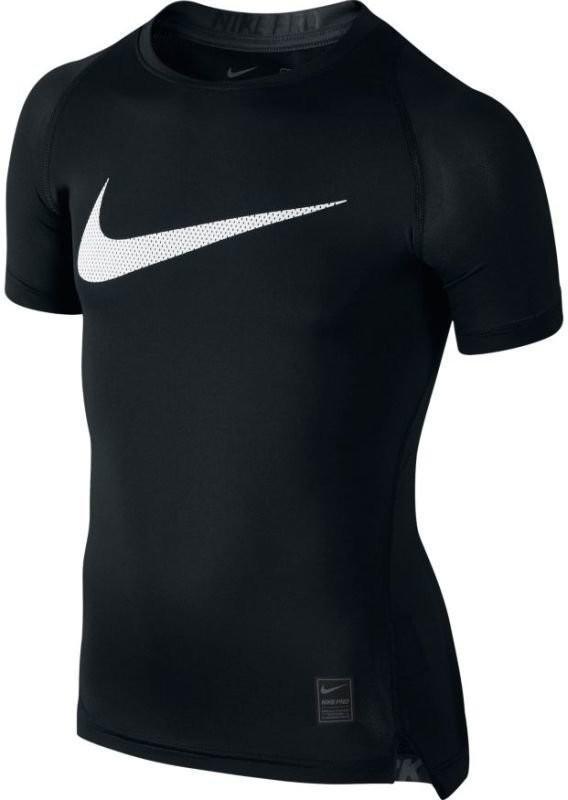 Теннисная термофутболка детская Nike Cool Comp SS YTH black/anthracite/white