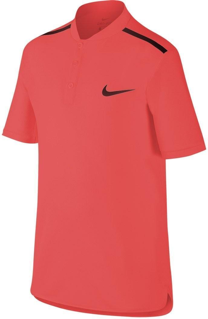 Теннисная футболка детская Nike Adv Polo SS YTH action red/black поло