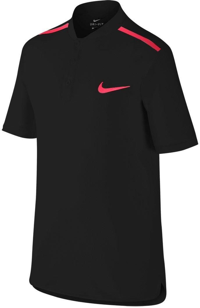 Теннисная футболка детская Nike Adv Polo SS YTH black/action red поло