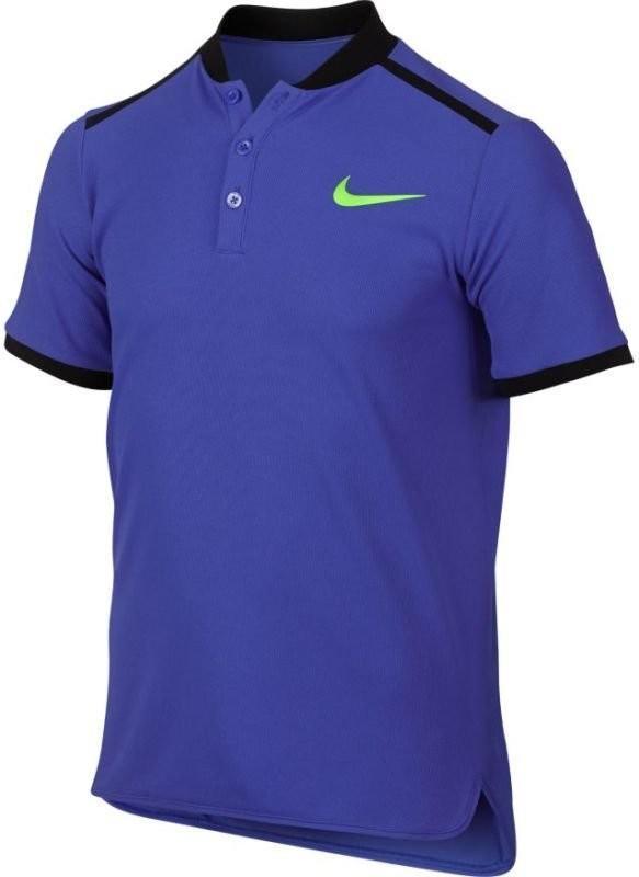 Теннисная футболка детская Nike Adv Solid Polo SS YTH paramount blue/ghost green поло