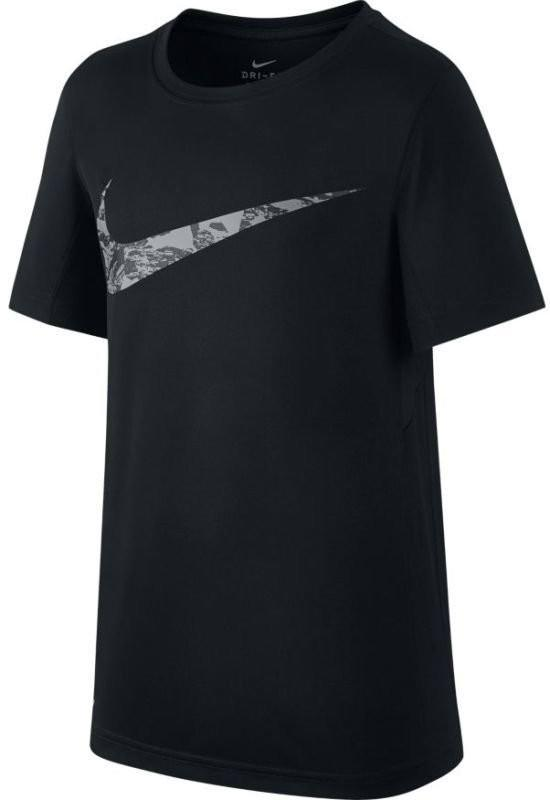 Теннисная футболка детская Nike Boys Dry Top SS GFX Legacy black
