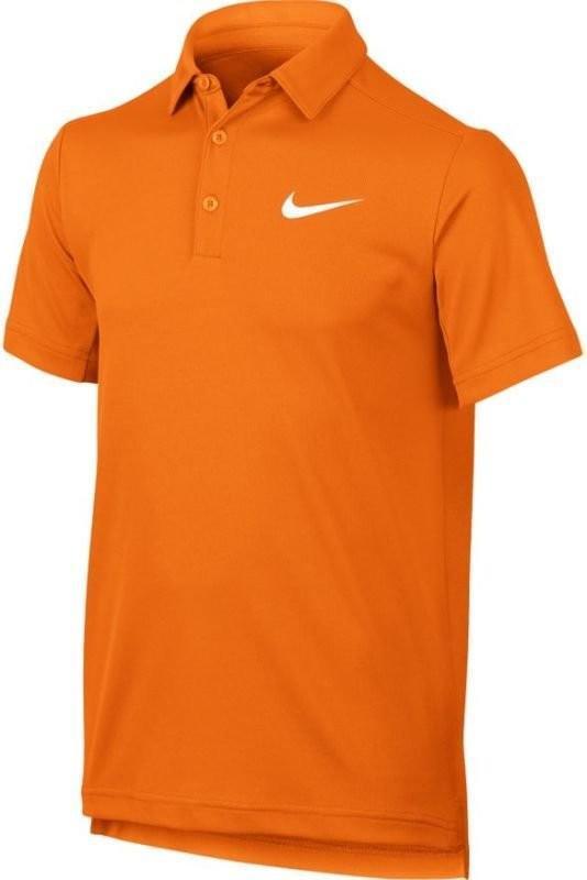 Теннисная футболка детская Nike Dry Polo YTH tart orange/white поло