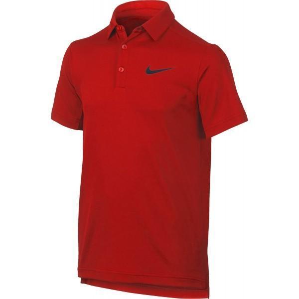 Теннисная футболка детская Nike Dry Polo YTH university red/black поло