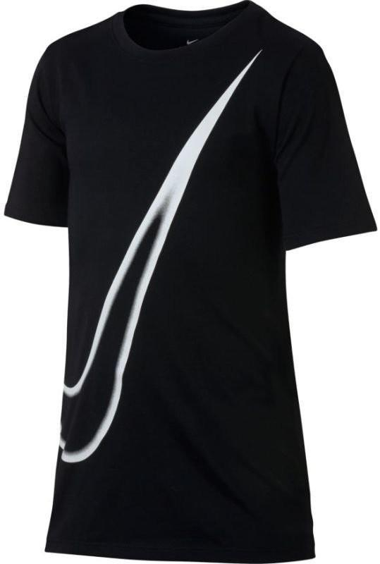 Теннисная футболка детская Nike Dry Tee Big Swoosh black