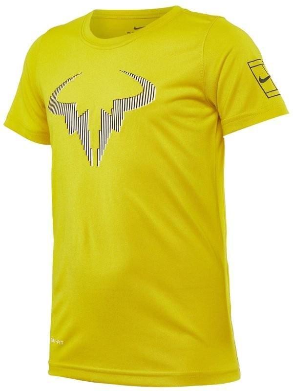 Теннисная футболка детская Nike Legend Rafa Tee bright citron