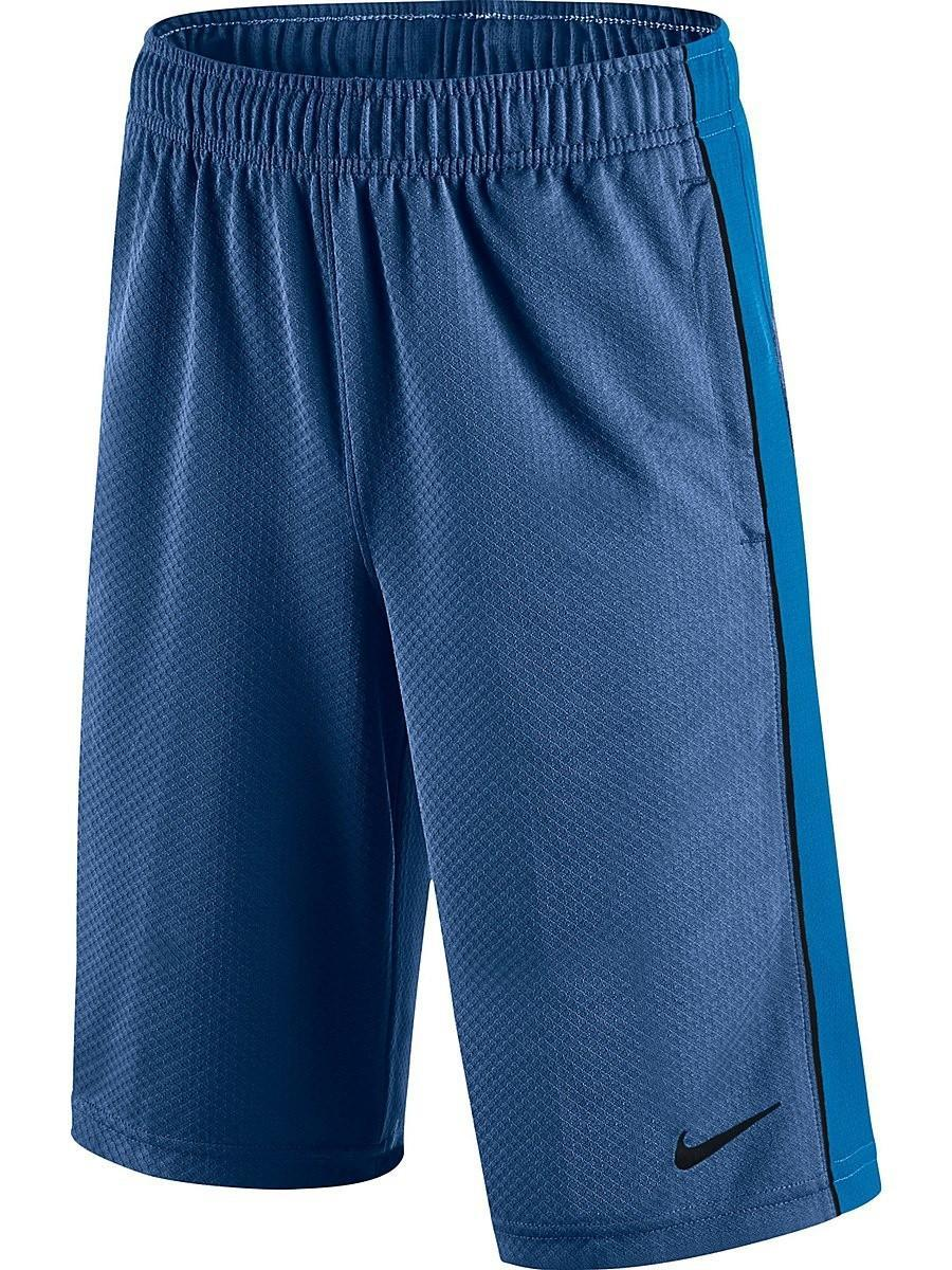 Теннисные шорты детские Nike Aceler8 Short YTH Gym Blue/Light Photo Blue/Black