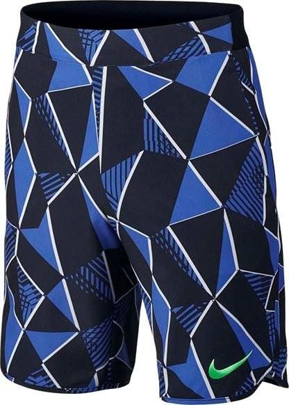 Теннисные шорты детские Nike Flex Ace Short AOP comet blue/black/electro green