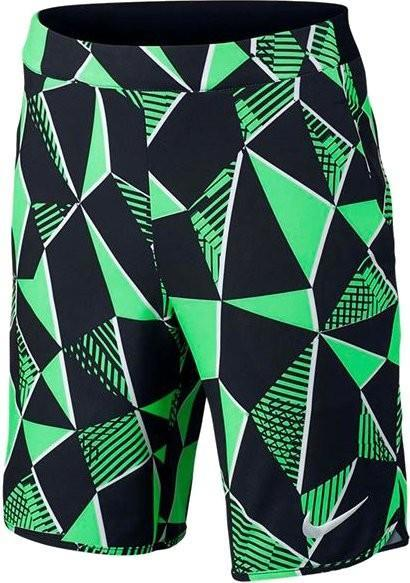 Теннисные шорты детские Nike Flex Ace Short AOP electro green/black/white