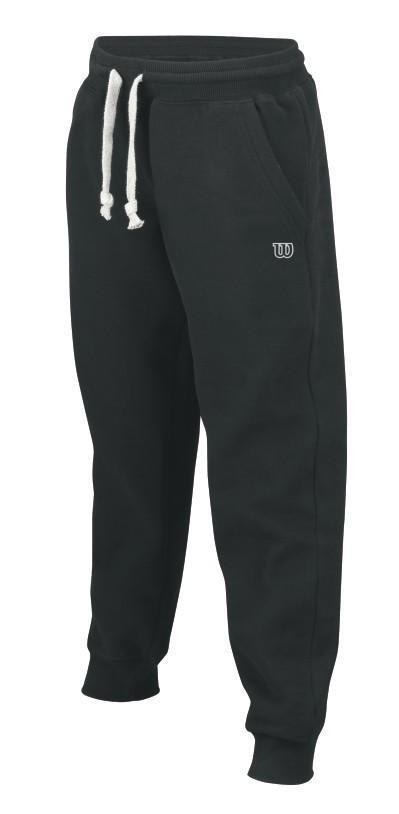 Теннисные штаны детские Wilson Cotton Pant Closed Cuffs black