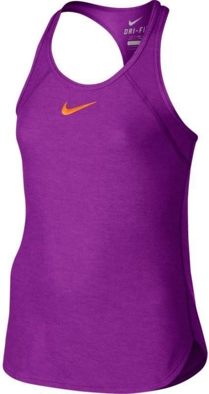 Теннисная майка детская Nike Slam Tank YTH vivid purple/tart orange
