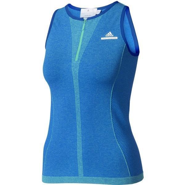 Теннисная майка женская Adidas by Stella McCartney Barricade Tank hyper green/bold blue