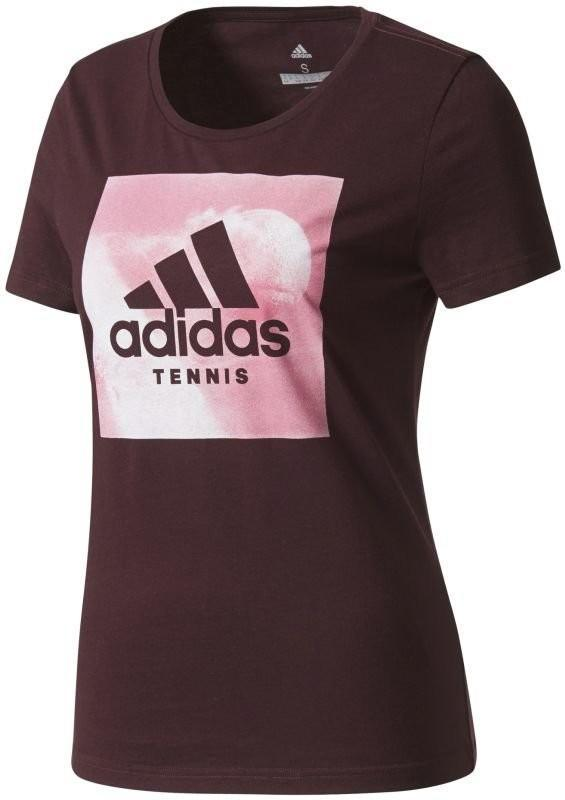 Теннисная футболка женская Adidas Category Ten W dark burgundy