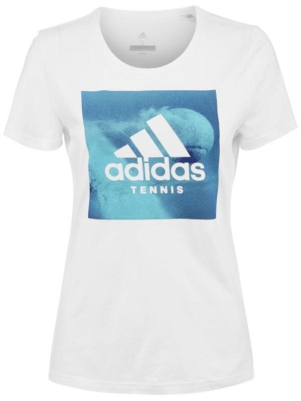 Теннисная футболка женская Adidas Category Ten W white