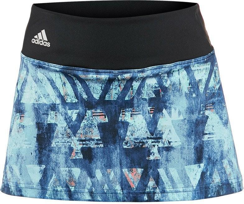 Теннисная юбка женская Adidas Essex TR Skirt mystery blue/glow orange