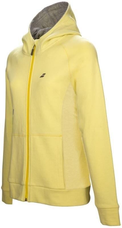 Кофта женская Babolat Core Hood Sweat Women lime washed