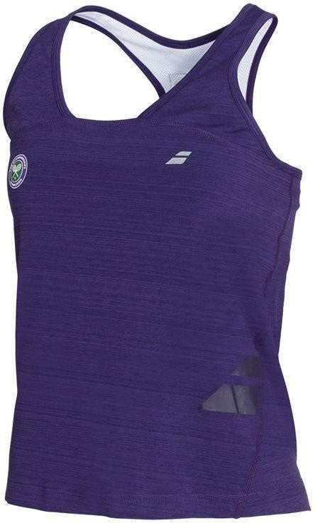 Теннисная майка женская Babolat Wimbledon Performance Racerback Women purple