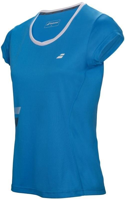 Теннисная футболка женская Babolat Core Flag Club Tee Women drive blue