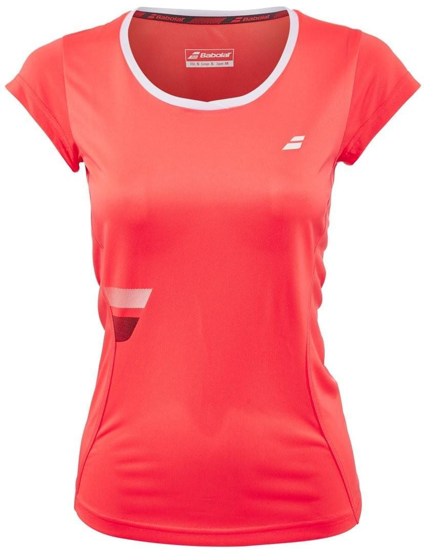 Теннисная футболка женская Babolat Core Flag Club Tee Women fluo strike