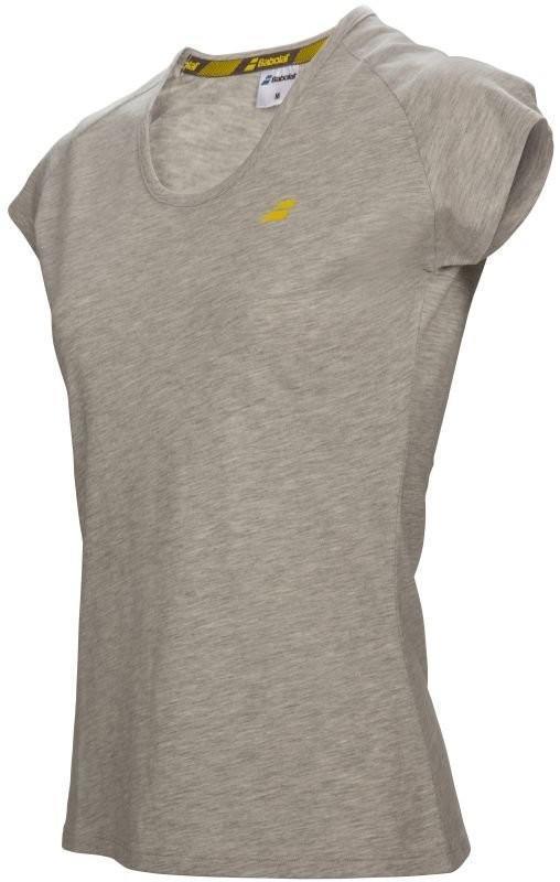 Теннисная футболка женская Babolat Core Tee Women grey