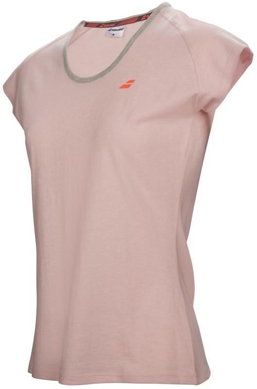 Теннисная футболка женская Babolat Core Tee Women light pink