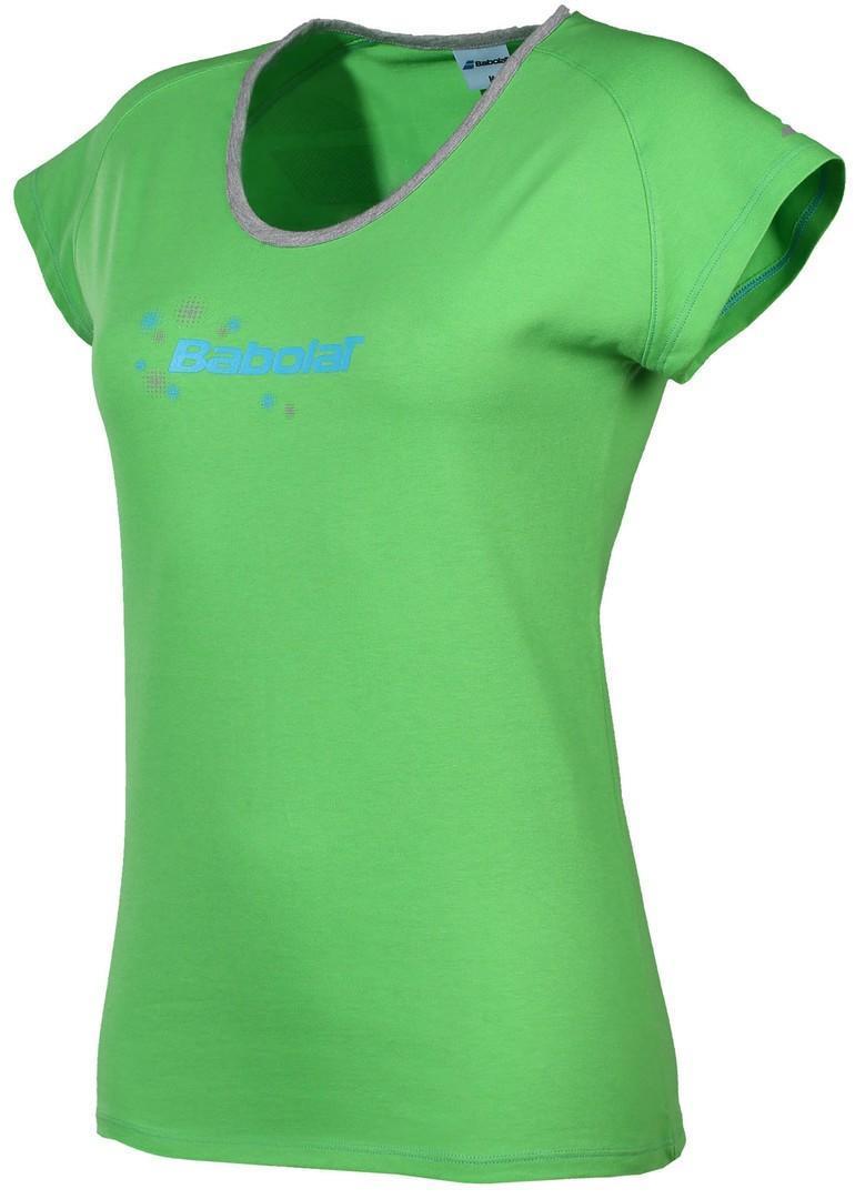 Теннисная футболка женская Babolat Core Women green