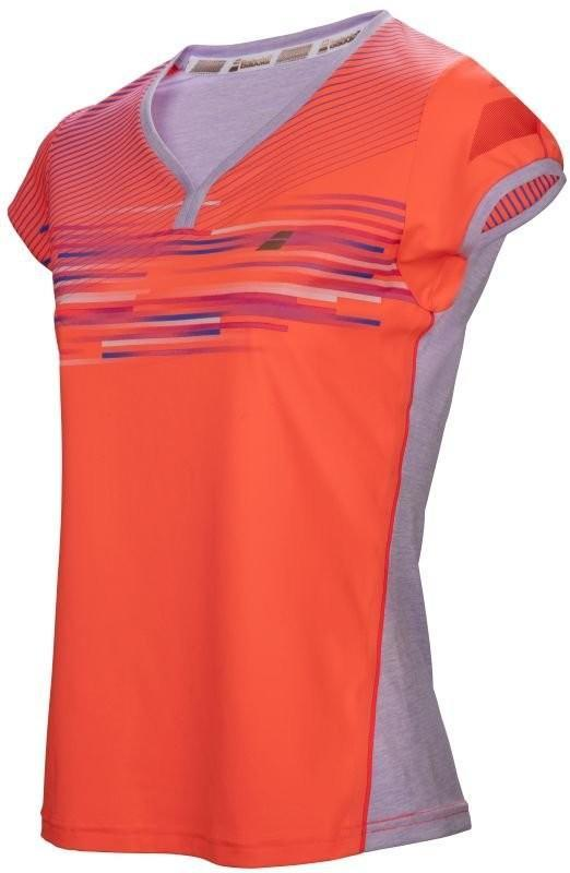 Теннисная футболка женская Babolat Performance Cap Sleeve Top Women fluo strike