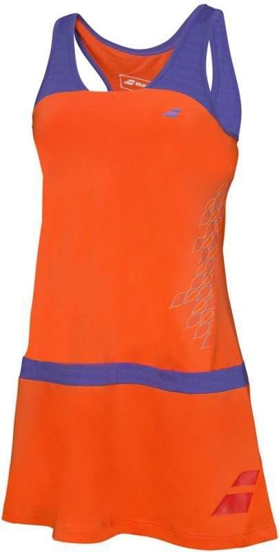 Теннисное платье женское Babolat Dress Raceback Performance Women tomato