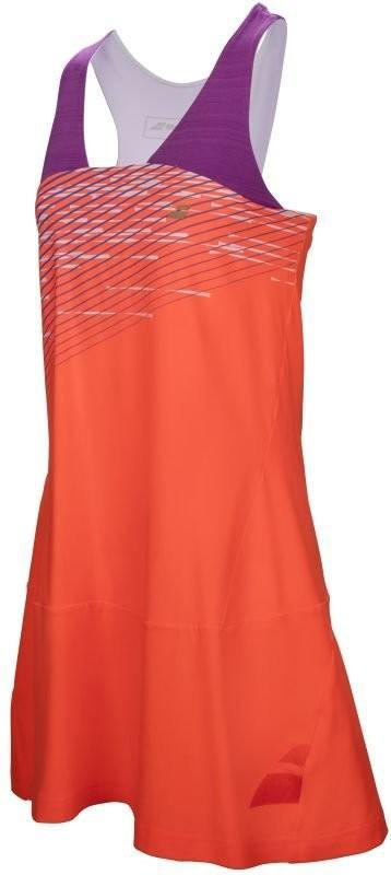 Теннисное платье женское Babolat Performance Racerback Dress Women fluo strike