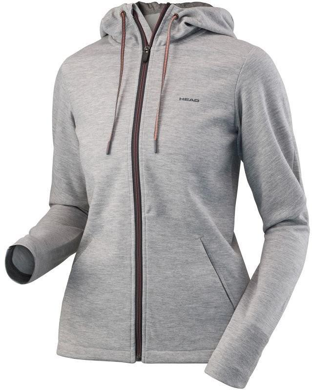 Кофта женская Head Transition Hoody FZ W grey melange