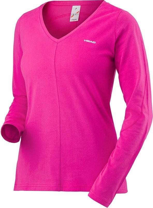 Теннисная футболка женская Head Transition LS Shirt W magenta