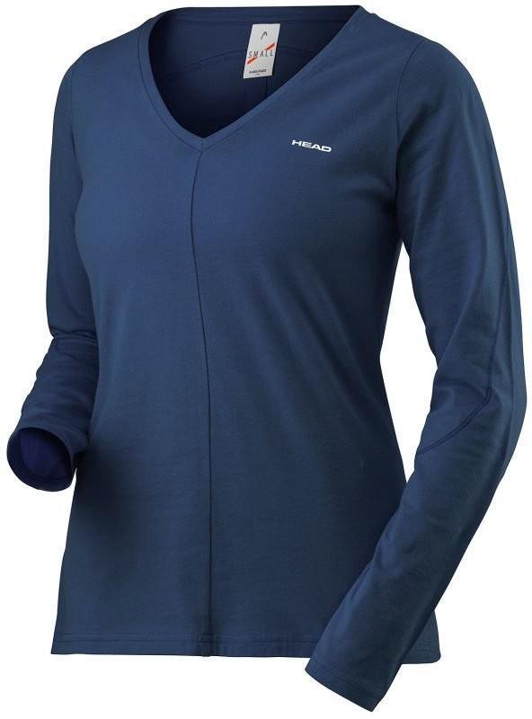 Теннисная футболка женская Head Transition LS Shirt W navy