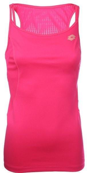 Теннисная майка женская Lotto Tank Nixia II pink fluo pop